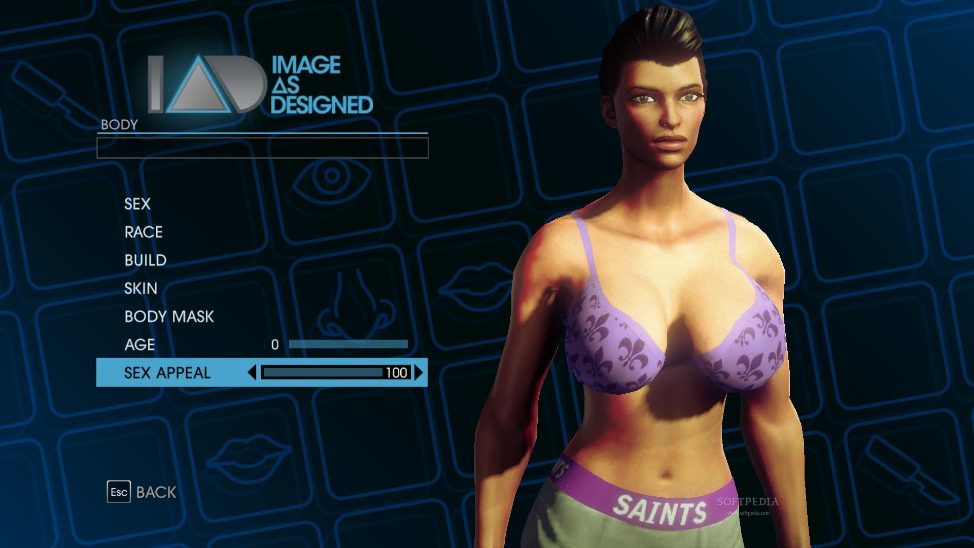 Saints row 3d sex simulation erotic naughty girl
