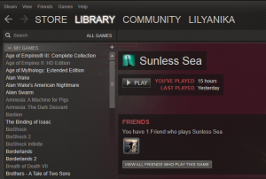 Sunless Sea Played Time